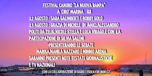 """""""LA NUOVA RAMPA""""   FESTIVAL CANORO REGIONALE 1° EDIZIONE 2017"""
