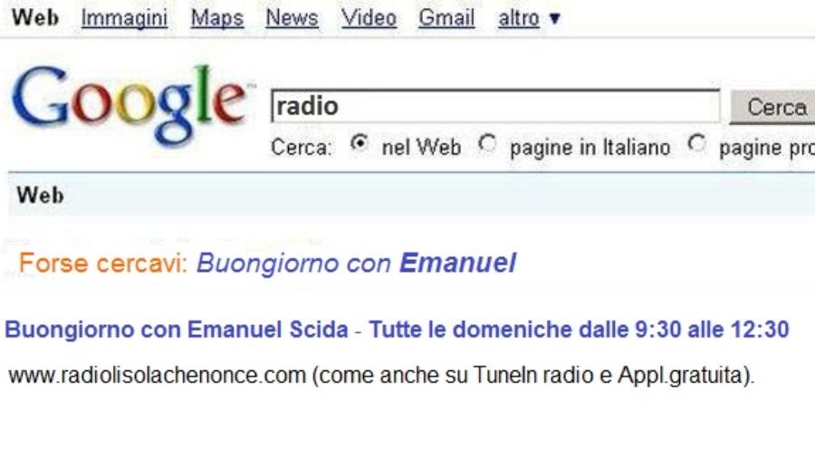 Buongiorno con Emanuel su Google
